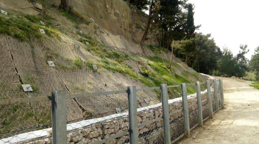 """FASTENING OF THE ROCKY SLOPES AND THE DANGEROUS PARTS IN THE AREA OF """"MINOTTO"""" BASTION AT THE CASTLE OF ZAKYNTHOS (1st PHASE)"""